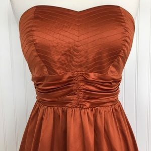 NWT The Limited fall party strapless midi dress 0